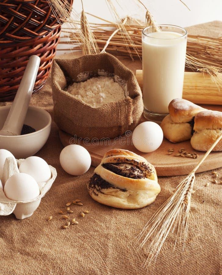 Baksel van brood stock foto's