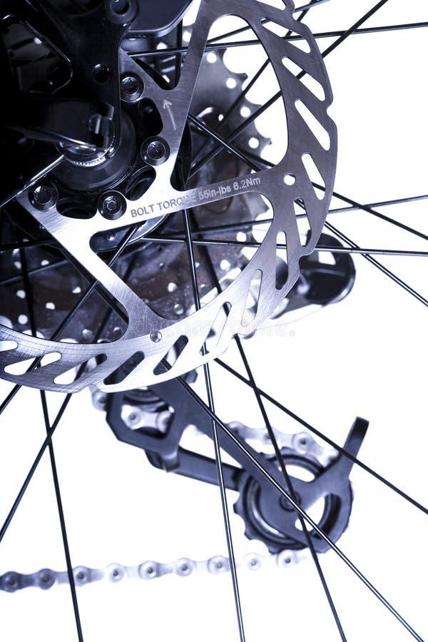 baksida för cykelbromsmekanism royaltyfria bilder