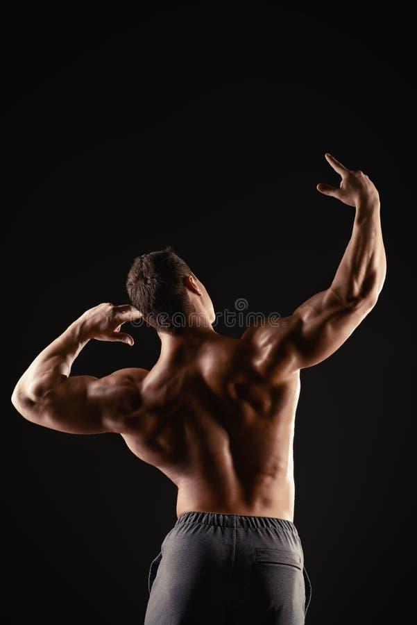 Baksida och armar fotografering för bildbyråer