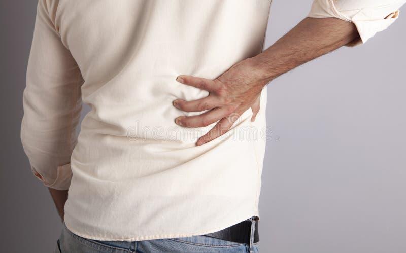 Baksida smärtar medicin arkivfoton