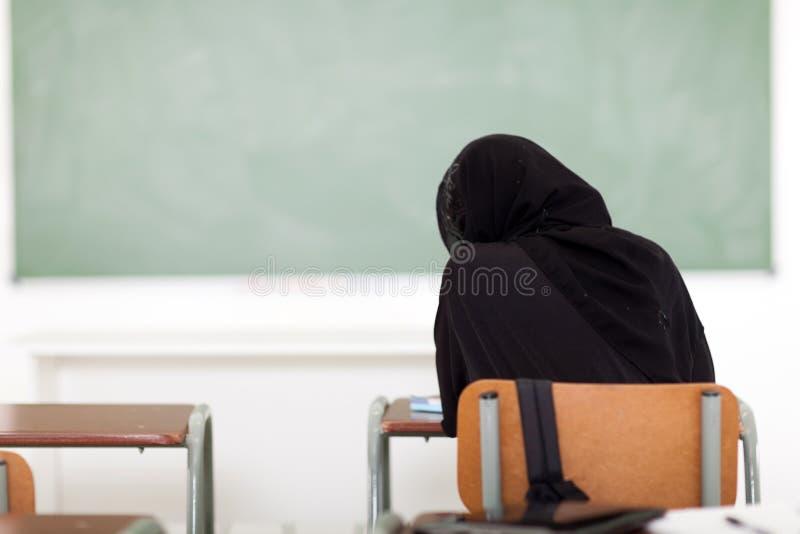 Araben skolar flickan royaltyfri foto