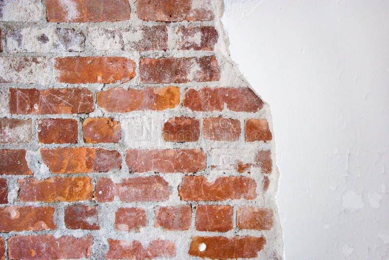 Baksteen en pleister stock afbeelding