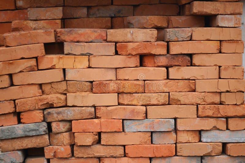 baksteen oude muur, rode baksteen royalty-vrije stock afbeelding