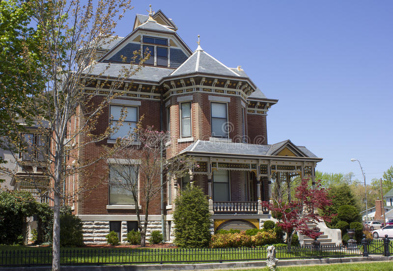 Baksteen Victoriaans Huis royalty-vrije stock foto