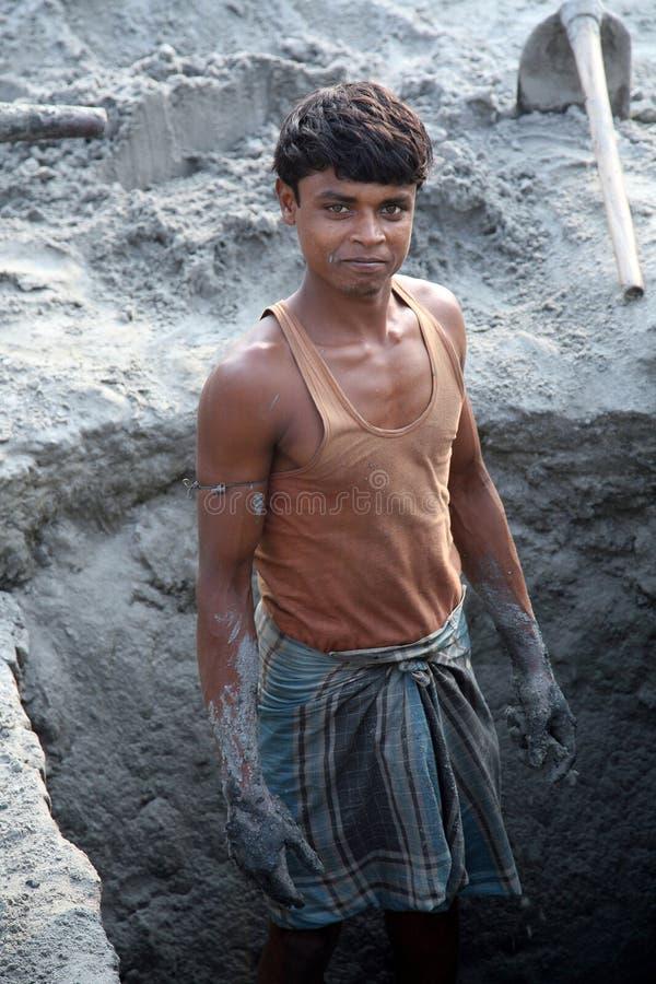 Baksteenfabriek in Sarberia, West-Bengalen, India stock foto