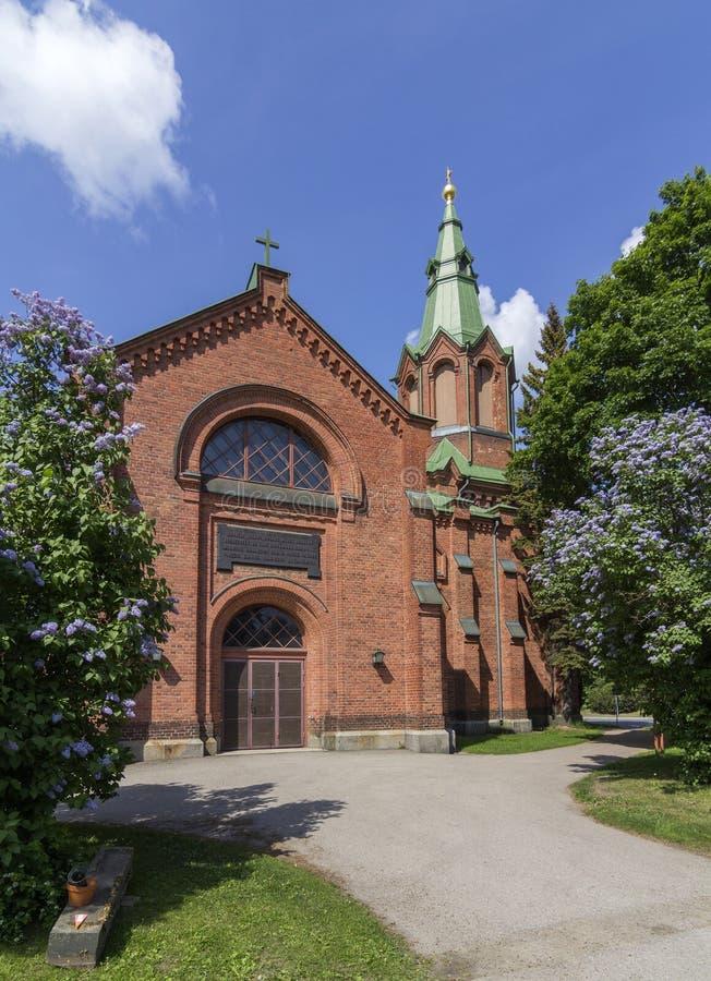 Baksteenkerk royalty-vrije stock afbeelding