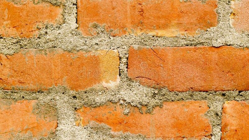 Bakstenen muren zonder pleister in India is gebruik voor huis royalty-vrije stock foto's