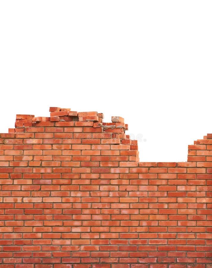 Bakstenen muur in aanbouw stock afbeelding