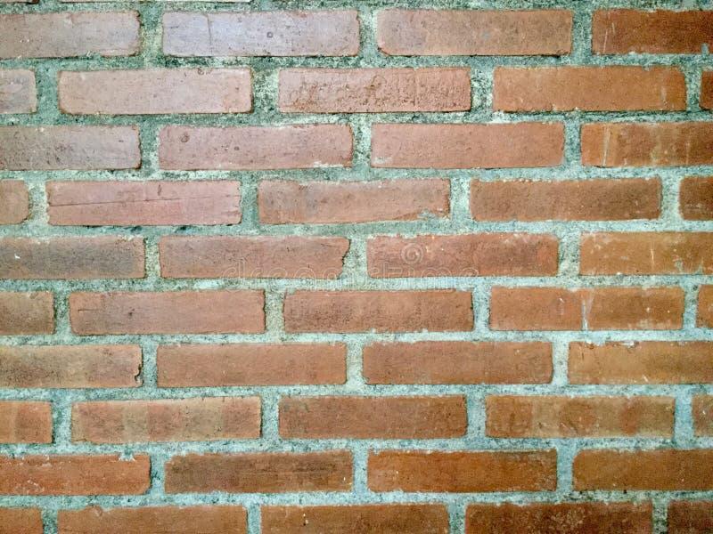 Bakstenen muur Achtergrond Terracotta stock fotografie
