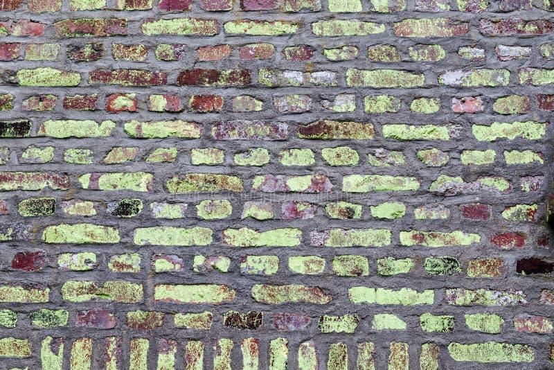 Bakstenen muur, bakstenen muur als achtergrond stock fotografie