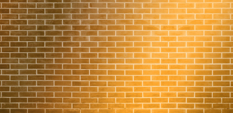 Bakstenen muur, de Gouden gele achtergrond van de bakstenen muurtextuur voor grafisch ontwerp vector illustratie