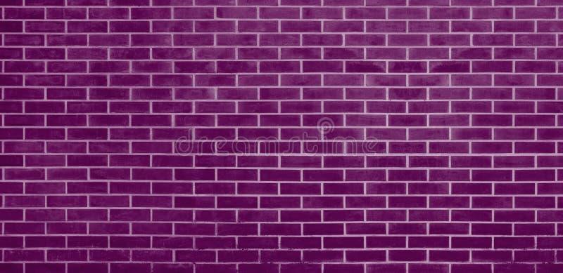 Bakstenen muur, de Purpere achtergrond van de bakstenen muurtextuur voor grafisch ontwerp stock illustratie