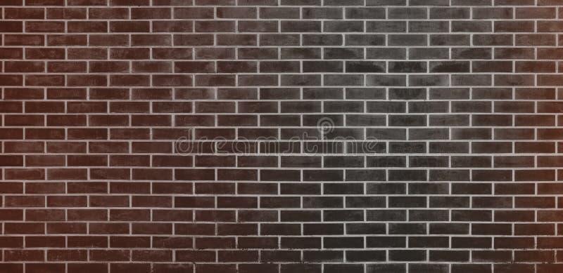 Bakstenen muur, de Zwarte Bruine achtergrond van de bakstenen muurtextuur voor grafisch ontwerp royalty-vrije illustratie