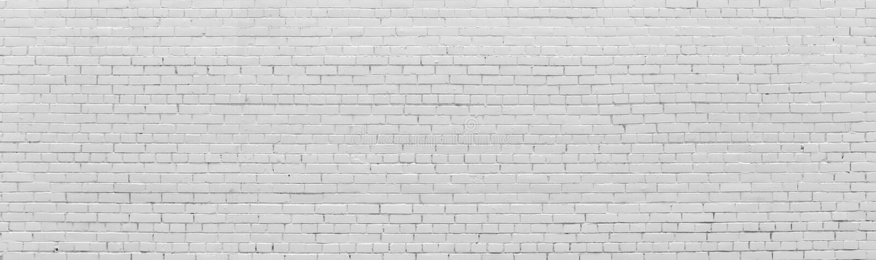 Bakstenen muur die met witte verf wordt geschilderd stock afbeeldingen