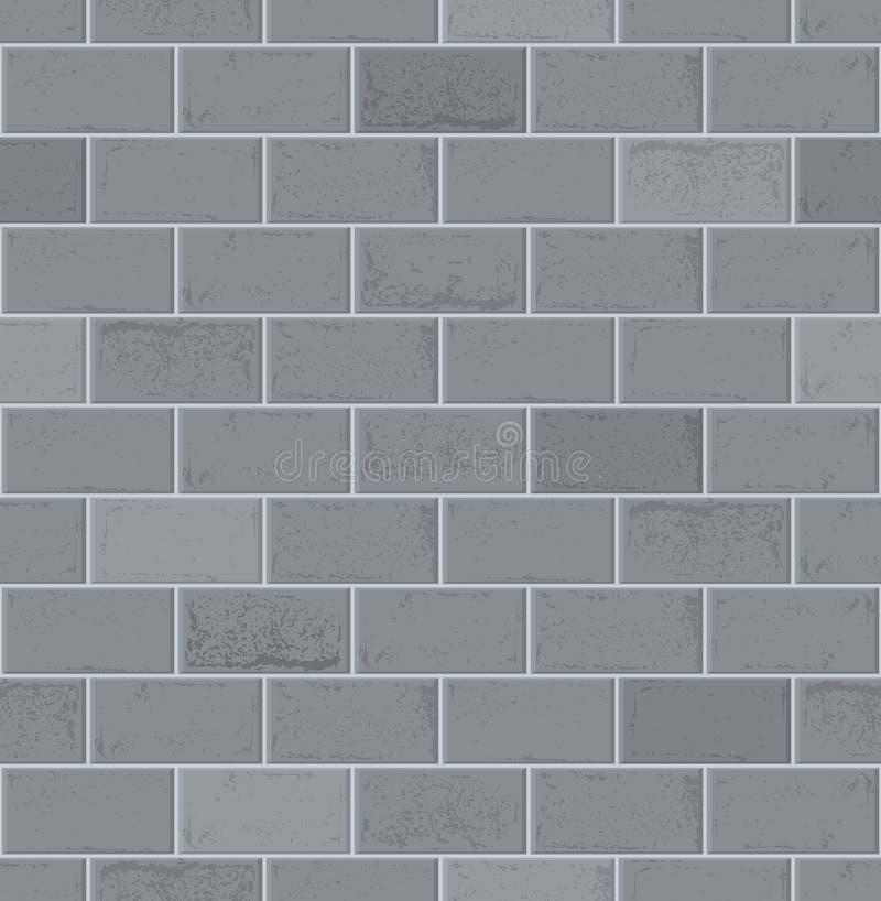 Bakstenen muur Grey Brick Texture Naadloos vectorpatroon Vector vector illustratie