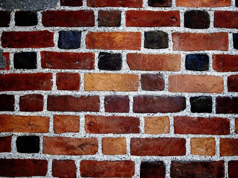Bakstenen muur II van de kleur stock foto