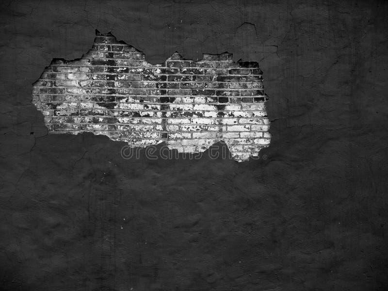 Bakstenen muur III (bw) royalty-vrije stock afbeeldingen