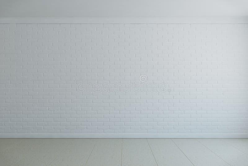 Bakstenen muur met marmeren vloeren stock illustratie