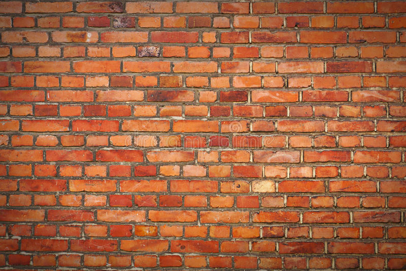 Bakstenen muur met vignet royalty-vrije stock afbeelding