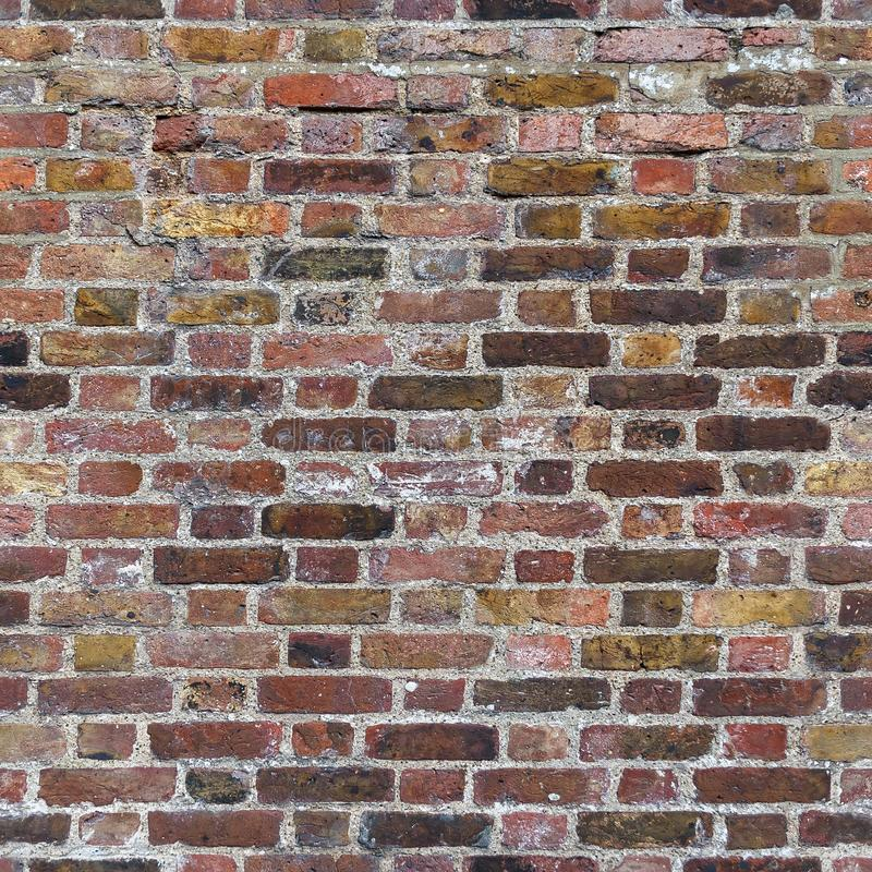 Bakstenen muur naadloze textuur stock afbeeldingen