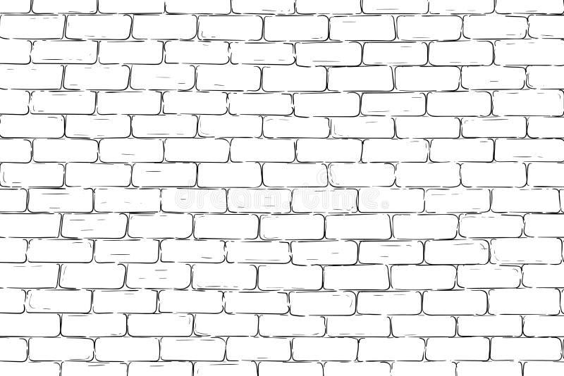 Bakstenen muurachtergrond stock illustratie