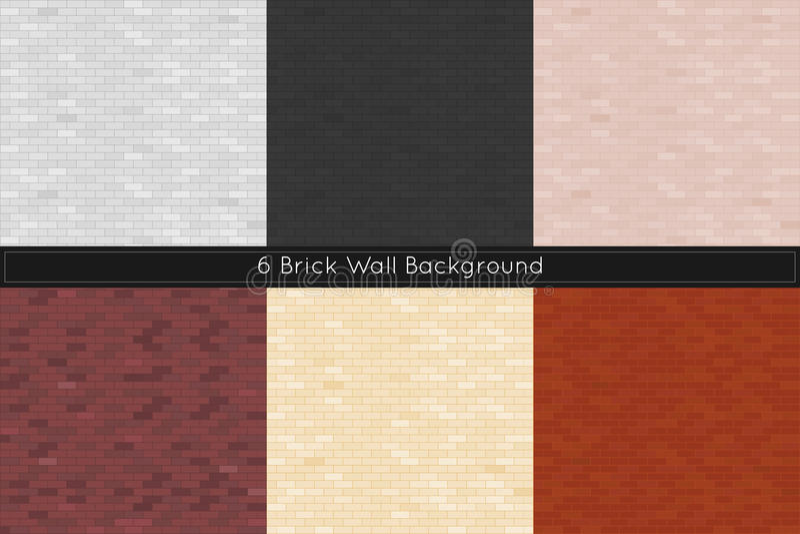 Bakstenen muurachtergrond Vector illustratie stock illustratie