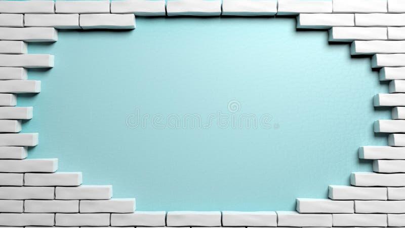 Bakstenen muurkader stock illustratie