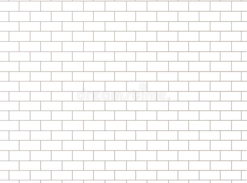 Bakstenen muurpatroon Witte en grijze oppervlakteachtergrond Blokken en cementbouw Abstracte metselwerktextuur Illustratie stock illustratie