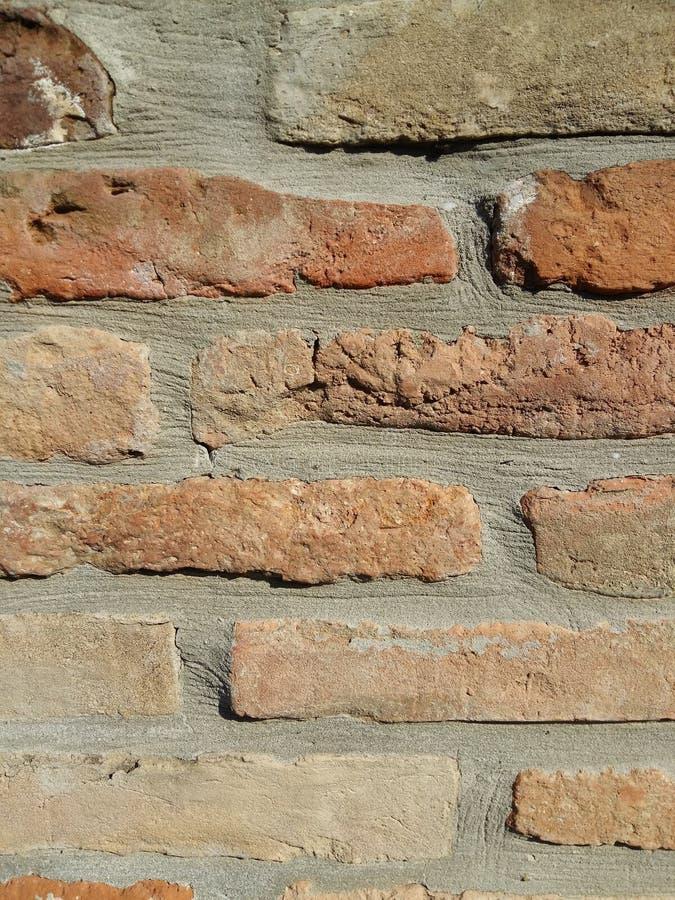 bakstenen muurtextuur stock afbeeldingen