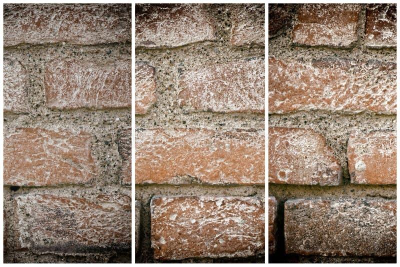 Bakstenen muurtextuur, cementachtergrond voor website of mobiele apparaten royalty-vrije stock foto's