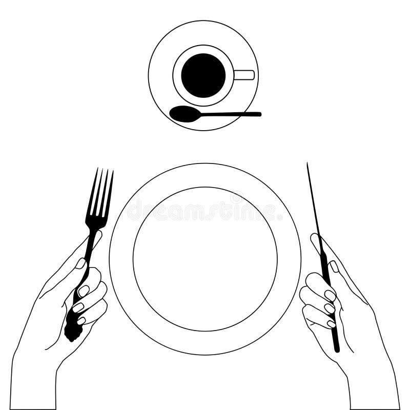 Baktala och dela sig i händer som isoleras på vit vektor illustrationer