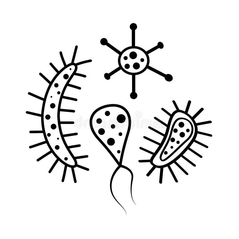 Bakterie- cellvektorillustration vektor illustrationer
