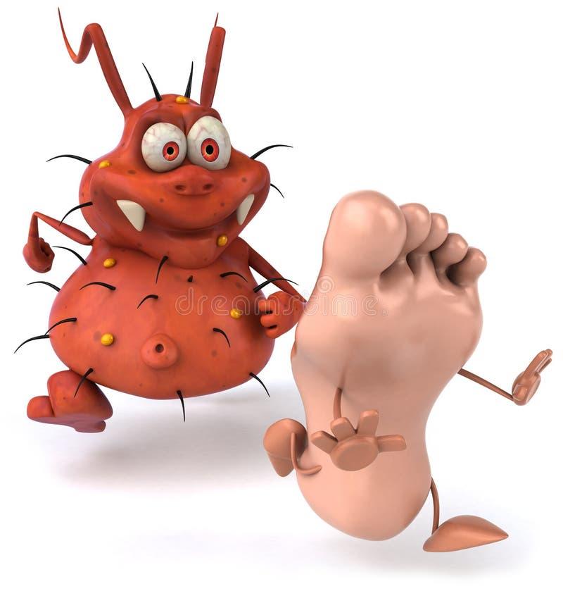 bakteriefot royaltyfri illustrationer