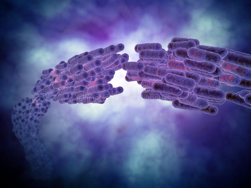 Bakteriekoloni royaltyfri illustrationer