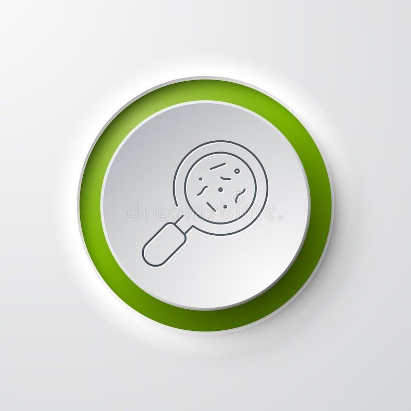 Bakterien-Analyse-Ikone stock abbildung