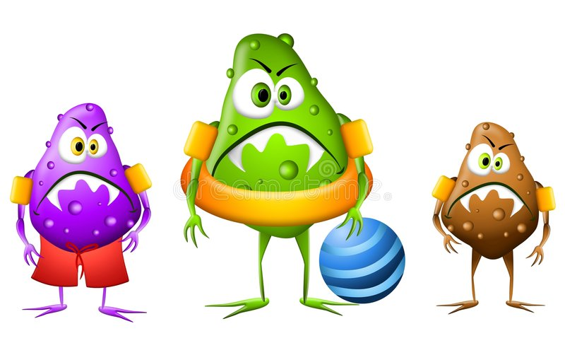 bakteriepölvatten royaltyfri illustrationer