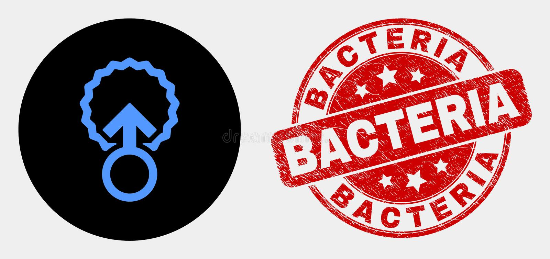 Bakterier för för vektorinseminationsymbol och nödläge stämplar stock illustrationer