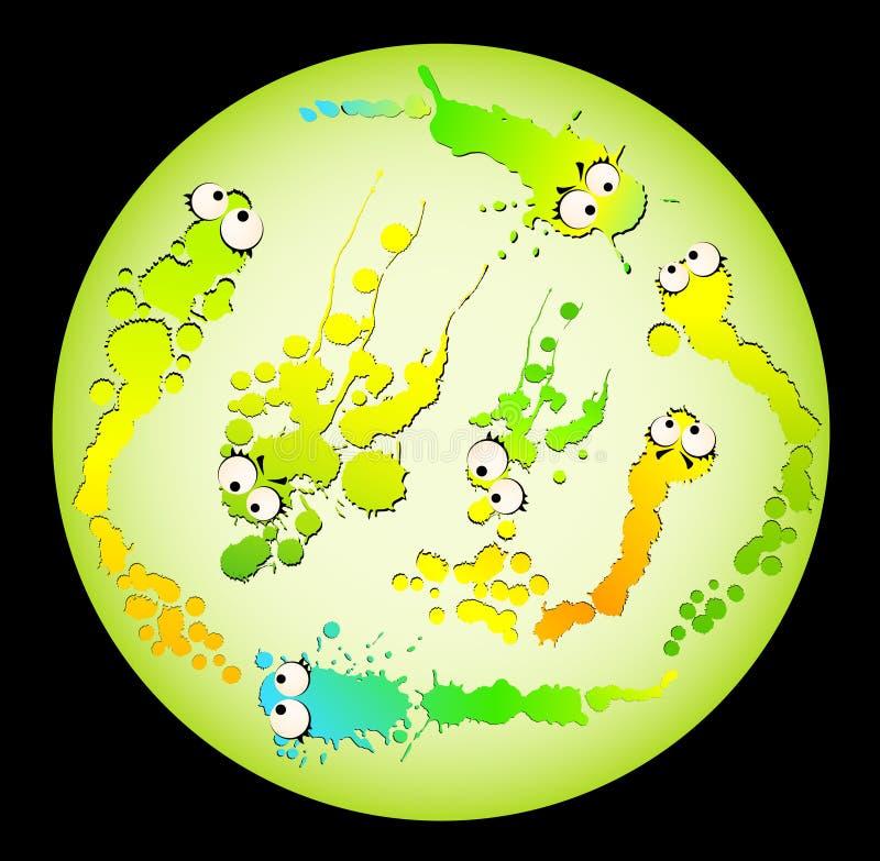 bakterievirus royaltyfri illustrationer