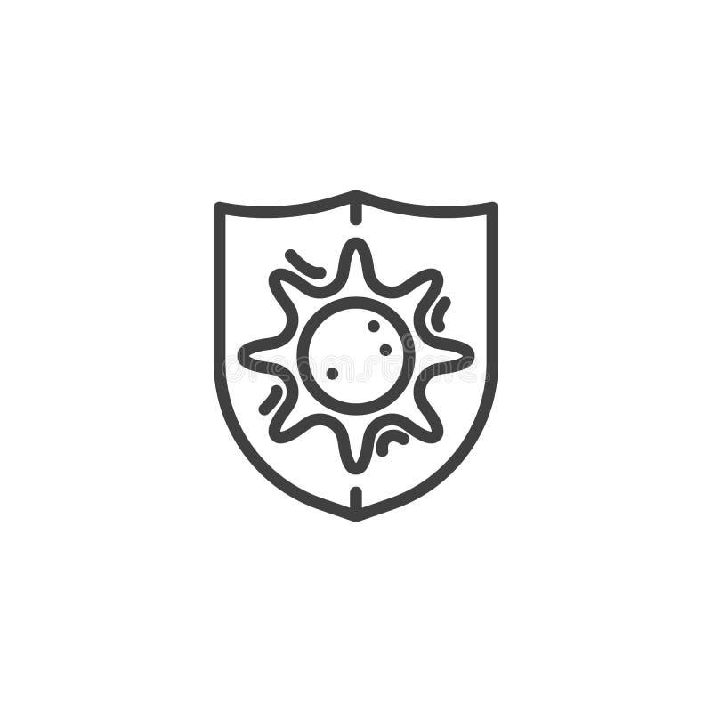 Bakterii osłony linii ikona ilustracji