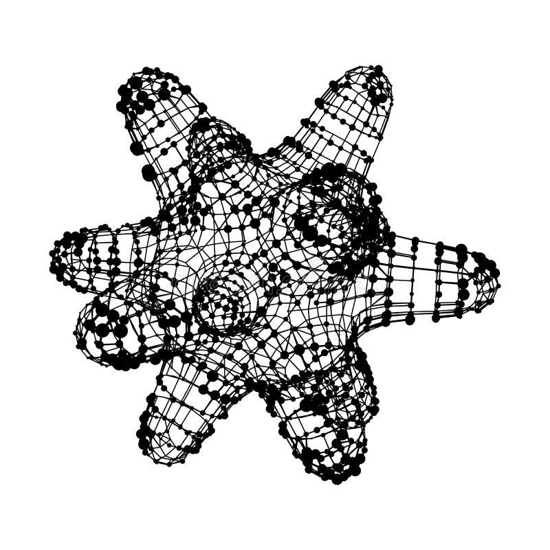 Bakterii wireframe wirusowa siatka ilustracja wektor