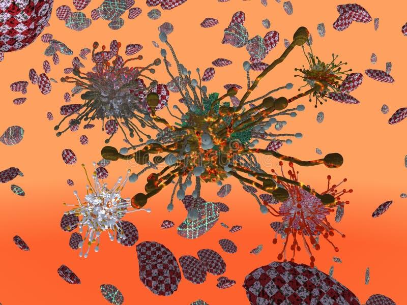 Bakteriologische Kriegführung stock abbildung