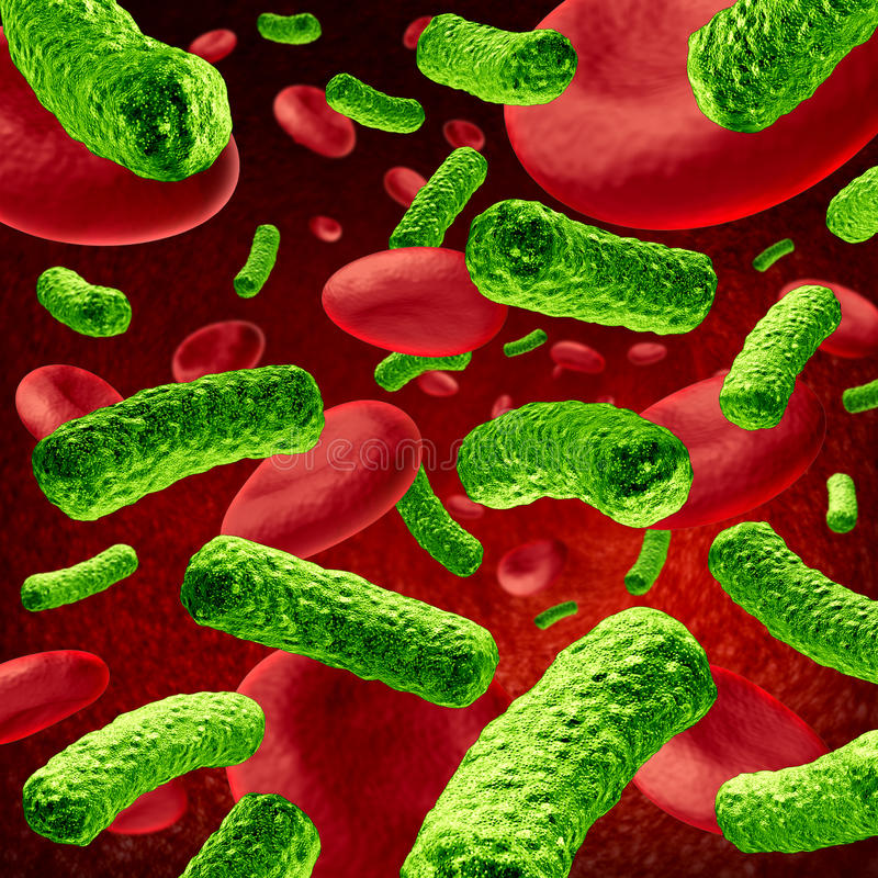Bakterium-Blut-Infektion vektor abbildung