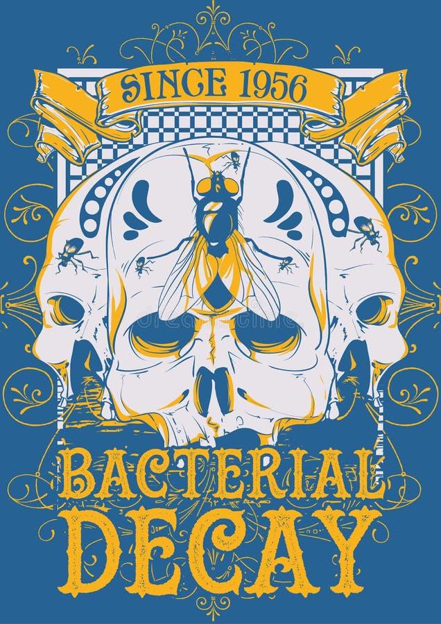 Bakteryjny gnicie ilustracji