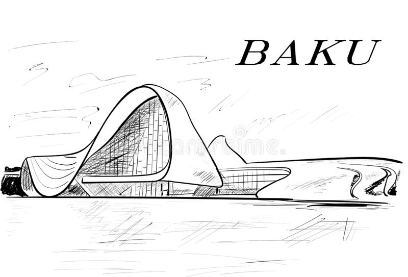 Baku royalty free illustration