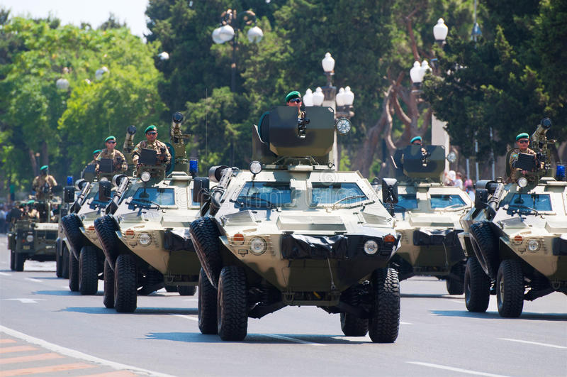 BAKU - 26 June 2011 - Military Parade In Baku Editorial Photo