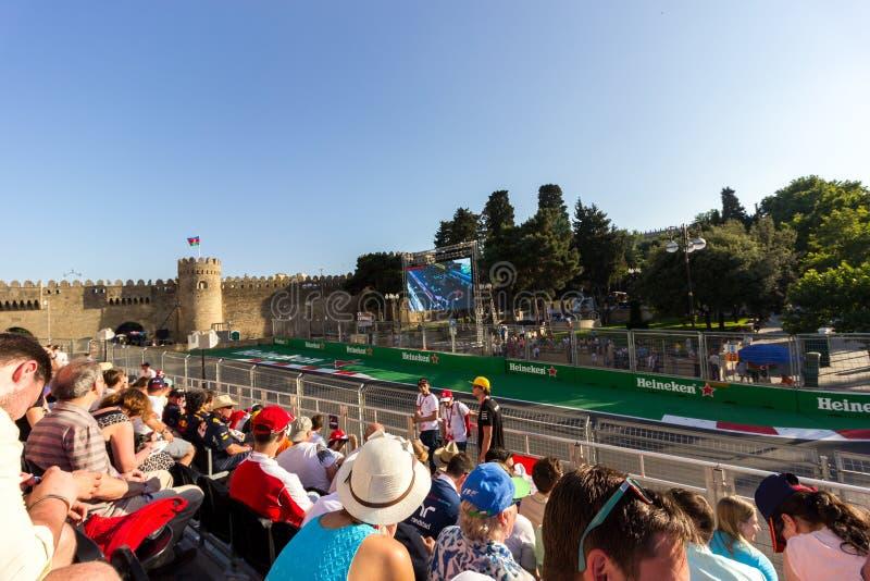 Baku, Azerbaijão - 6 de junho de 2017: Fórmula 1 Prix grande do prix grande de Azerbaijão foto de stock royalty free