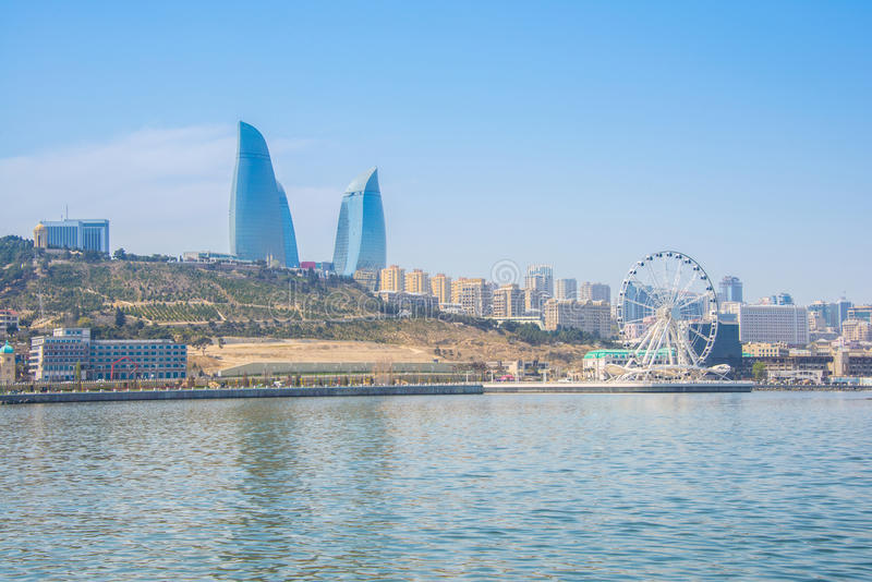 Baku Azerbaijan arkivbild