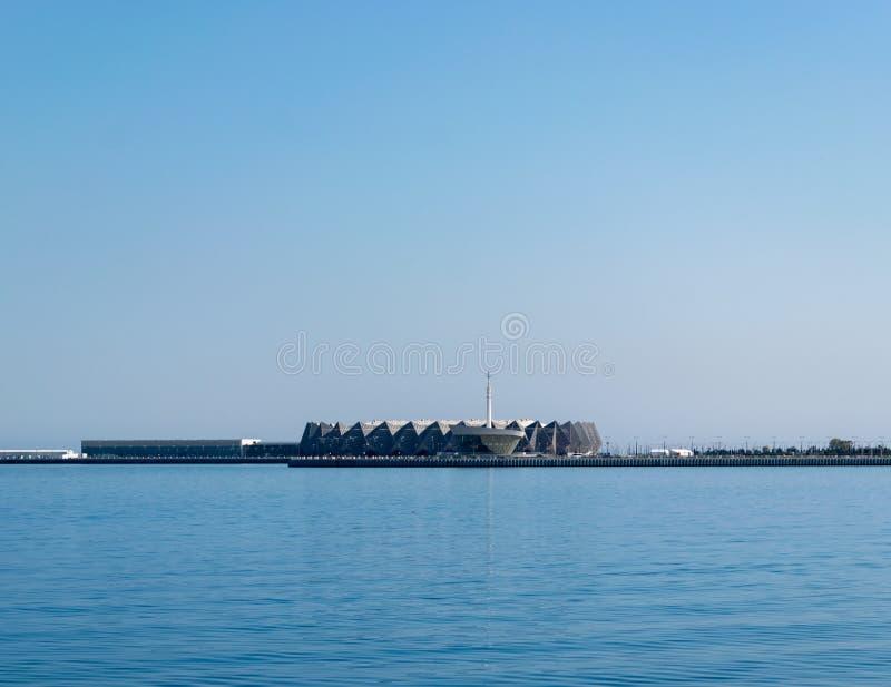 Baku, Azerbaijan - April 13, 2019: Baku Crystal Hall, indoor arena built to host the Eurovision Song Contest 2012. Photo stock photo