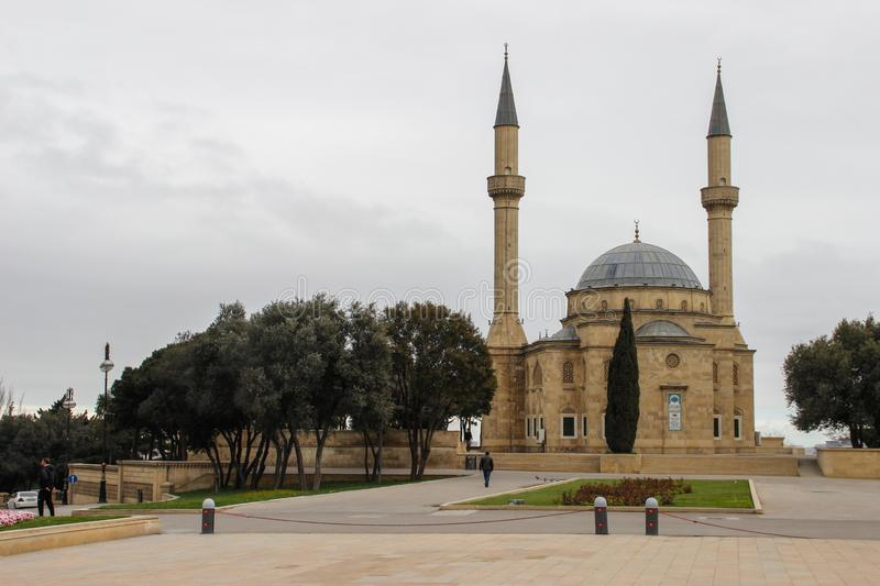 The old mosque in the capital royalty free stock photo