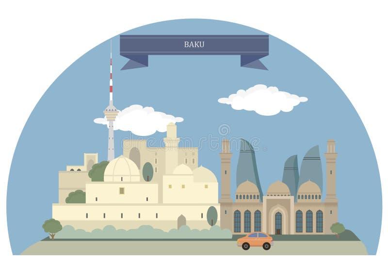 Baku,Azerbaijan royalty free illustration
